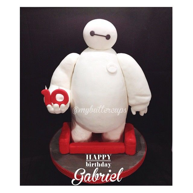 Baymax Cake | Big Hero 6 - For all your cake decorating supplies, please visit craftcompany.co.uk