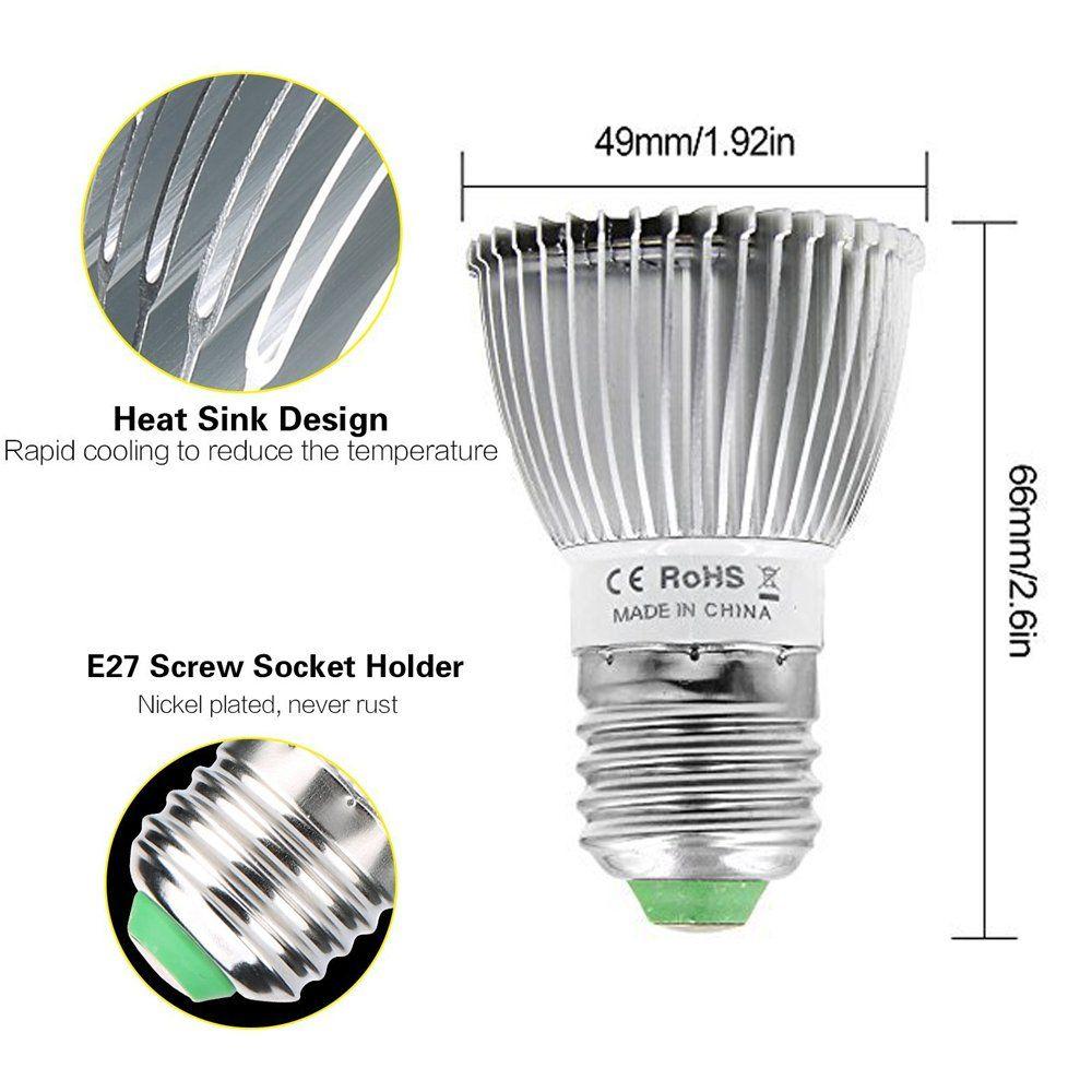 Full Spectrum Grow Light Bulb Derlights 28w E26 Led Plant Light For Indoor Plants Hydroponic Garden Gree In 2020 Grow Light Bulbs Led Plant Lights Hydroponic Gardening