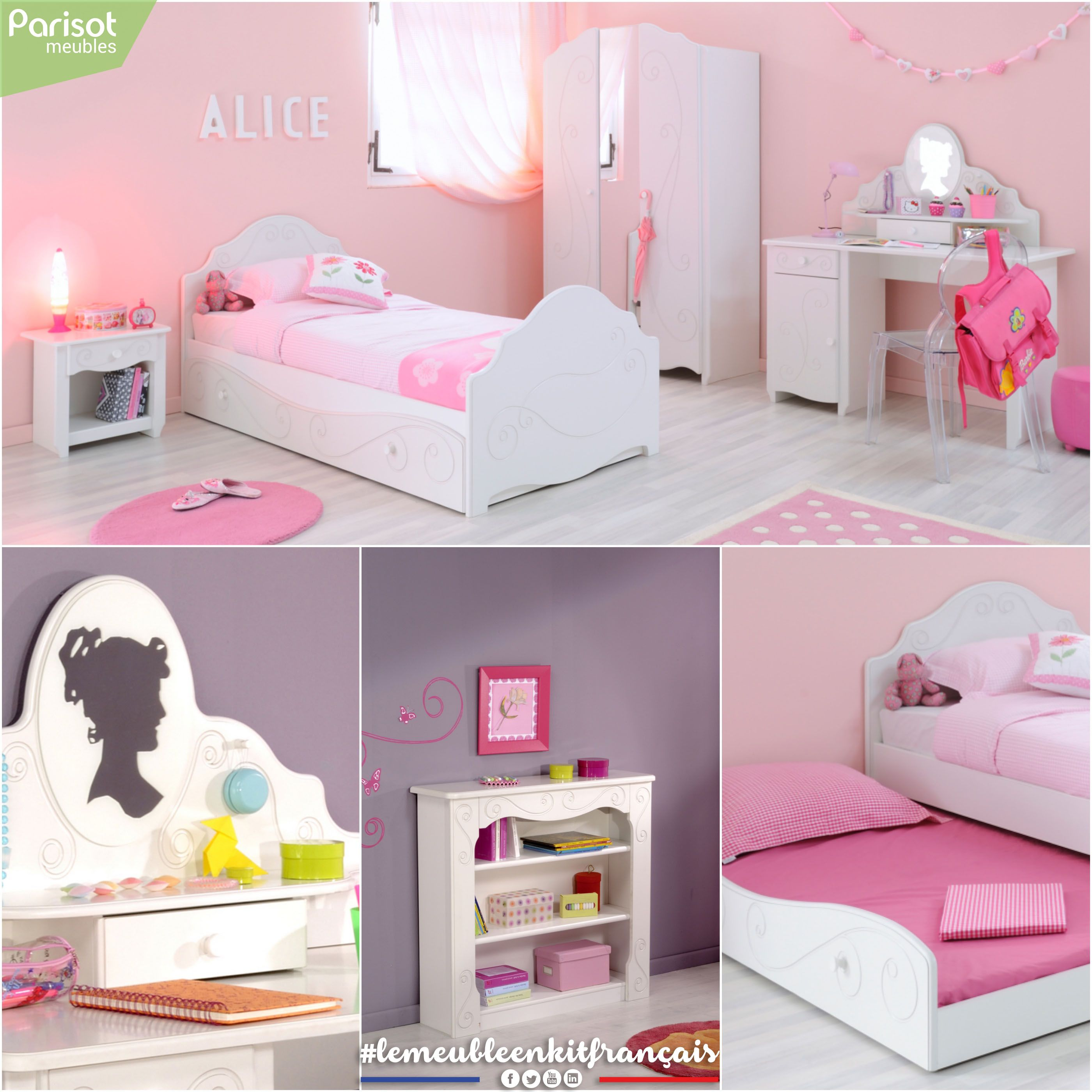 Alice By Parisot Meubles A Princess Themed Bedroom With Both Strong And  Classic Elements; The
