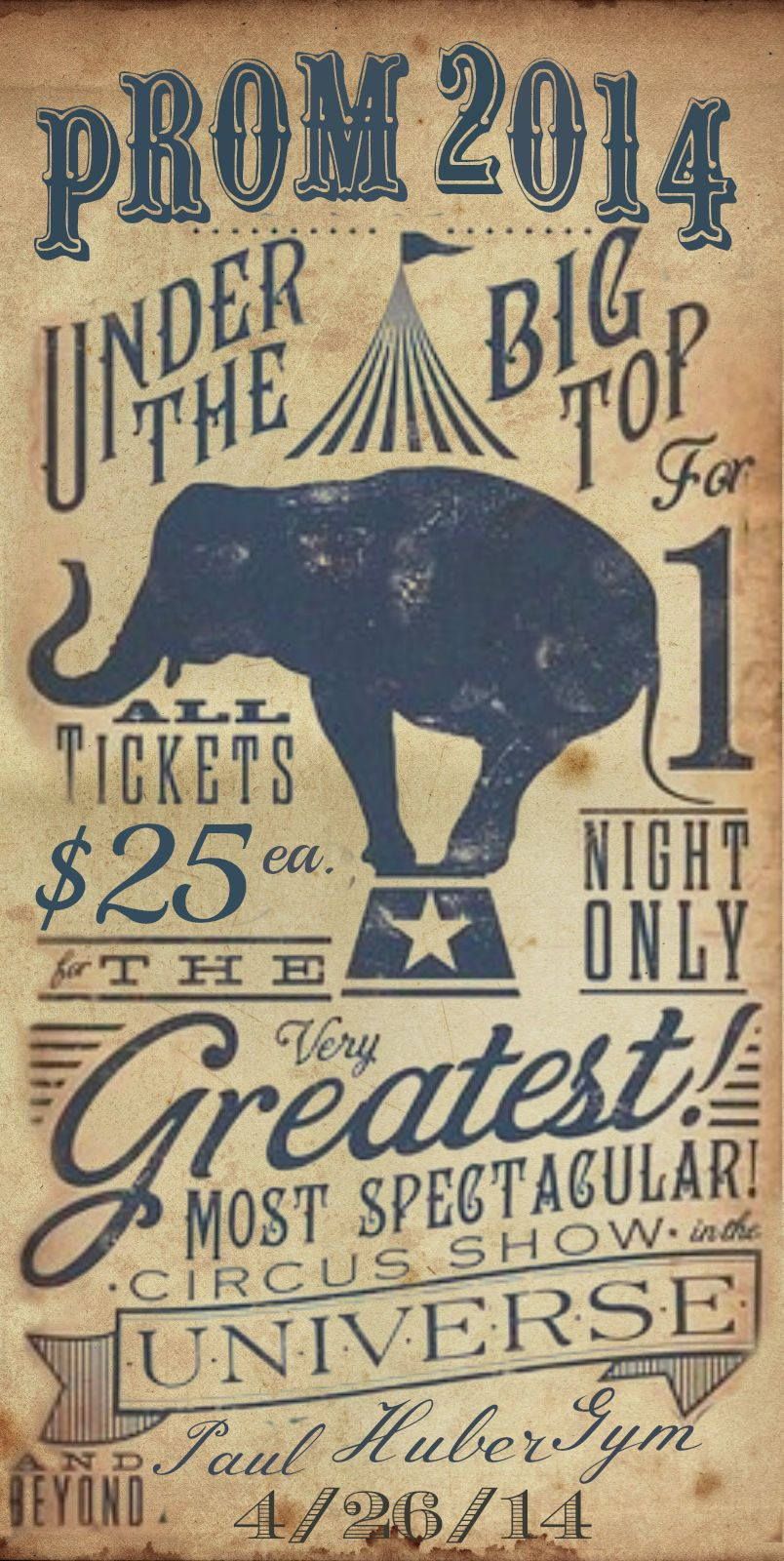 Prom Poster Vintage Circus Carnival Theme