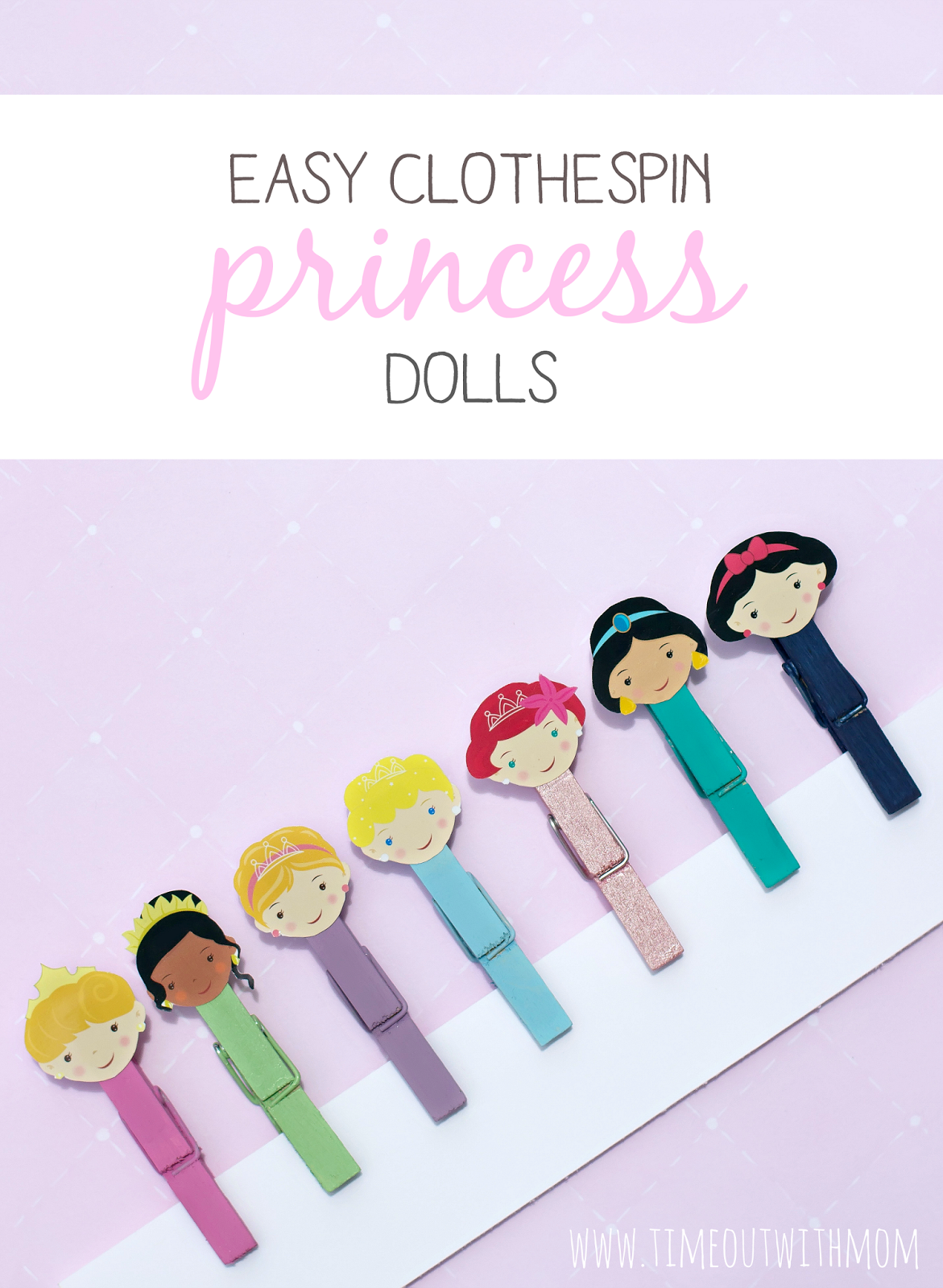 easy, inexpensive craft for little girls. disney princess themed