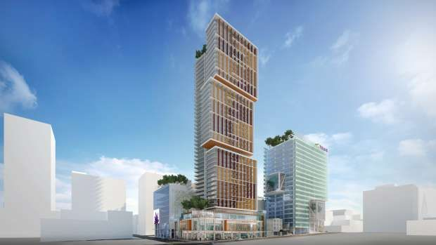 Vancouver business district forges ahead with three new towers.