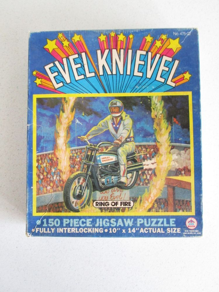 Ring of Fire Evel Knievel Jigsaw Puzzle Vintage 1974 10x14