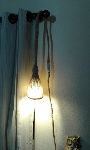 luminária de tricô