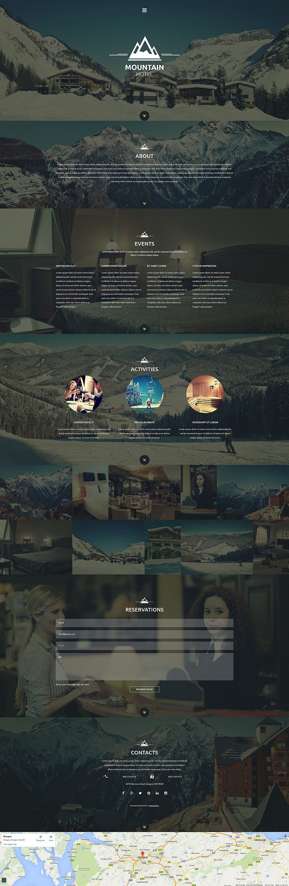 Responsive #Hotel Website Template This is a #onepage design which ...