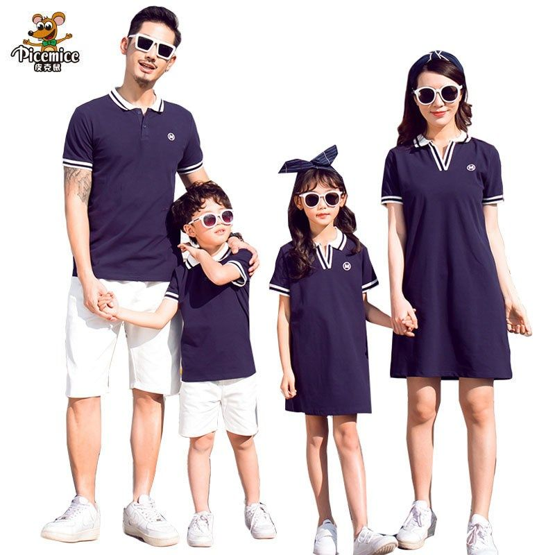 372ba4a6a36 Family Clothing Mother Girl Dresses Summer Father Son T-Shirts Short Pants Family  Matching Outfits
