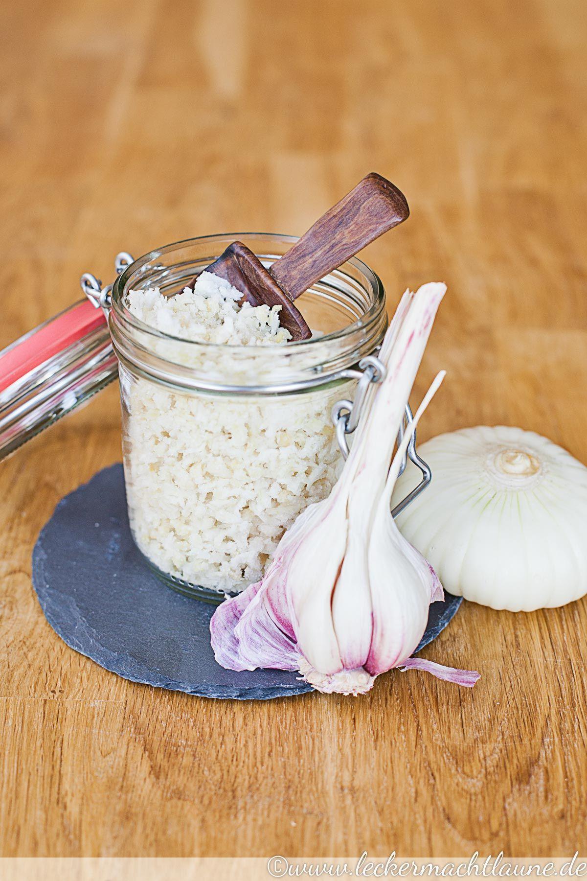 Knoblauch-Zwiebel-Salz {geschenk aus der küche} | lecker macht laune