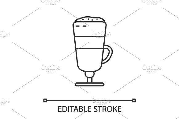 Latte macchiato linear icon #lattemacchiato