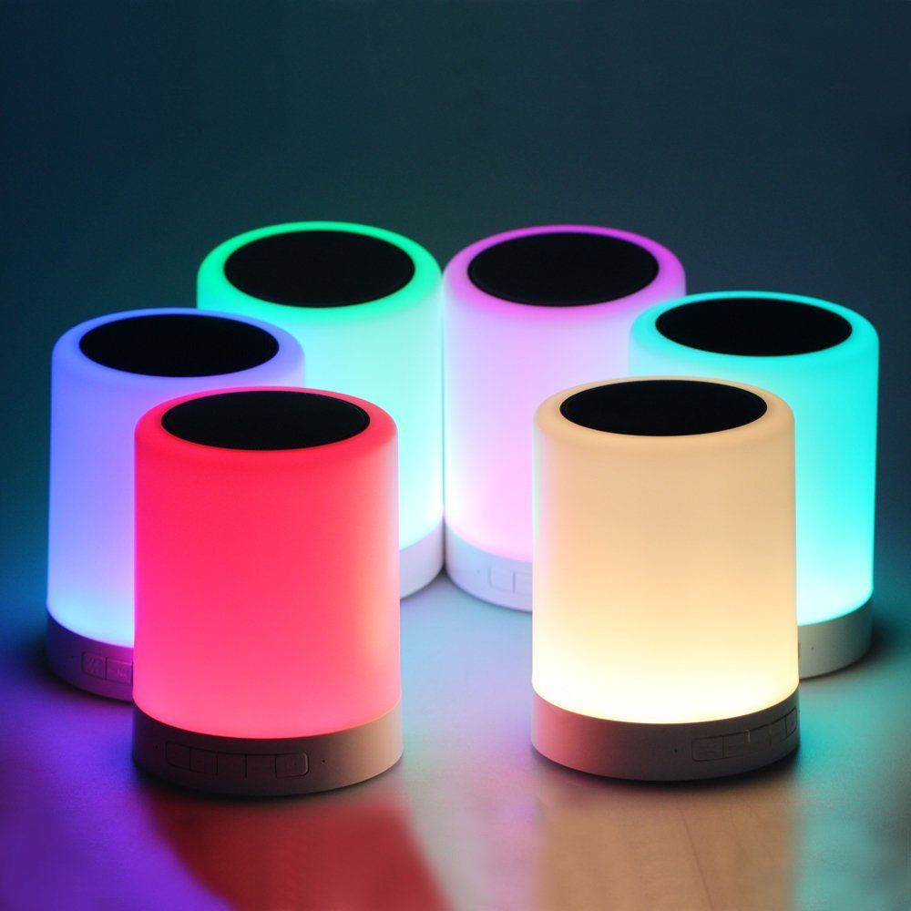Pococina Smart Touch Sensor Bedside Lamp And Dimmable Warm White Led Children Table Lamp With Color Changing Cool Things To Buy Cool Things To Make Cool Gifts