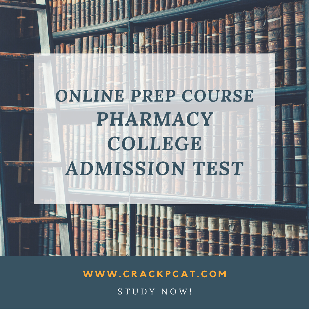 PCAT prep pack for Pharmacy College Admission Test in 2020