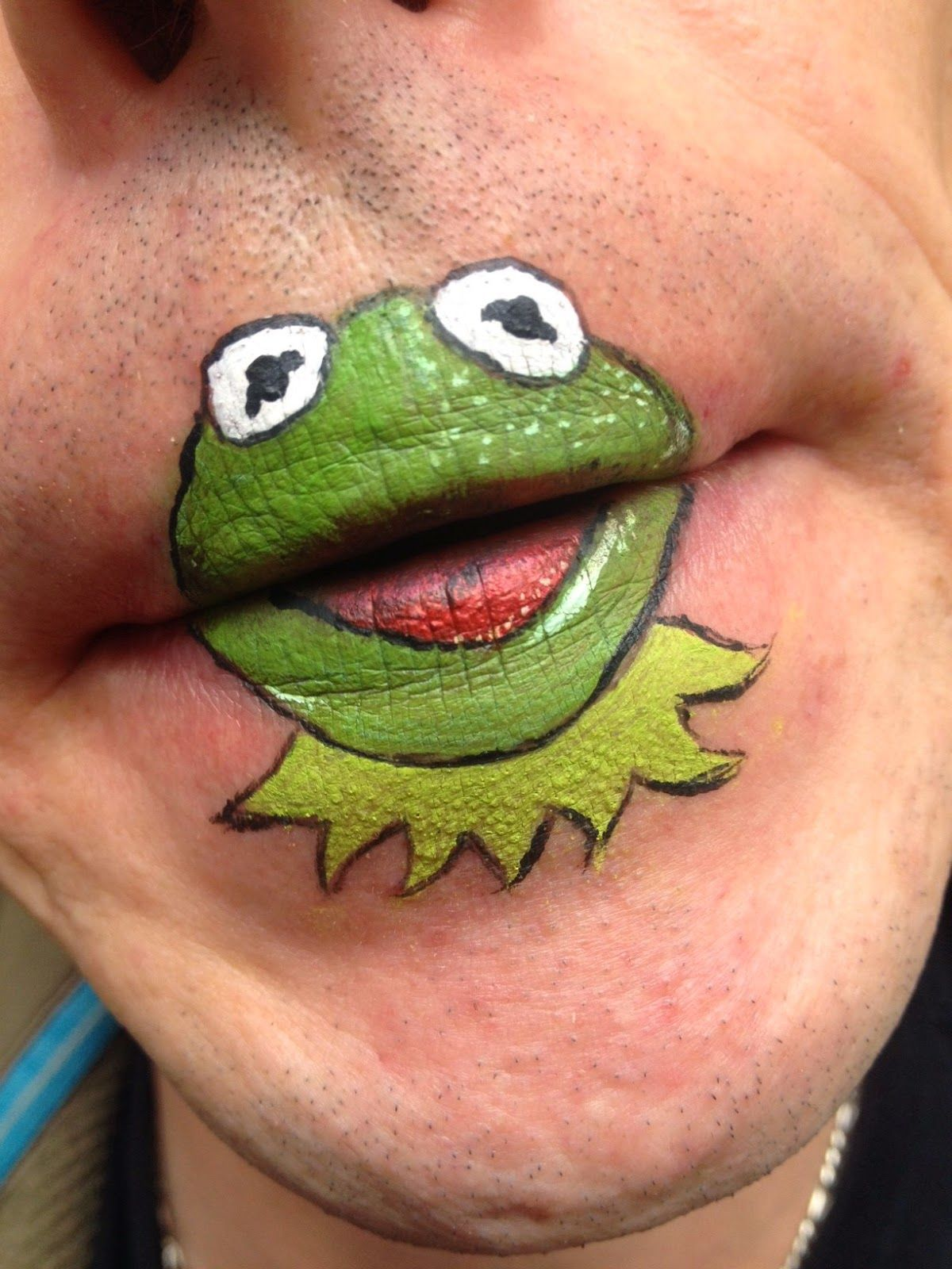 Frog Mouth Face Paint