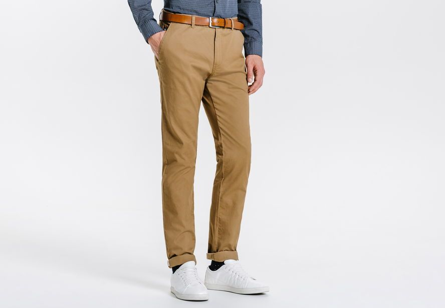 4a0f908b7477 Chino slim casual Beige Homme - Jules