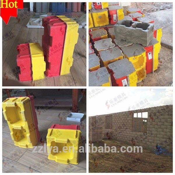 concrete block moulds, plastic concrete block forms, plastic