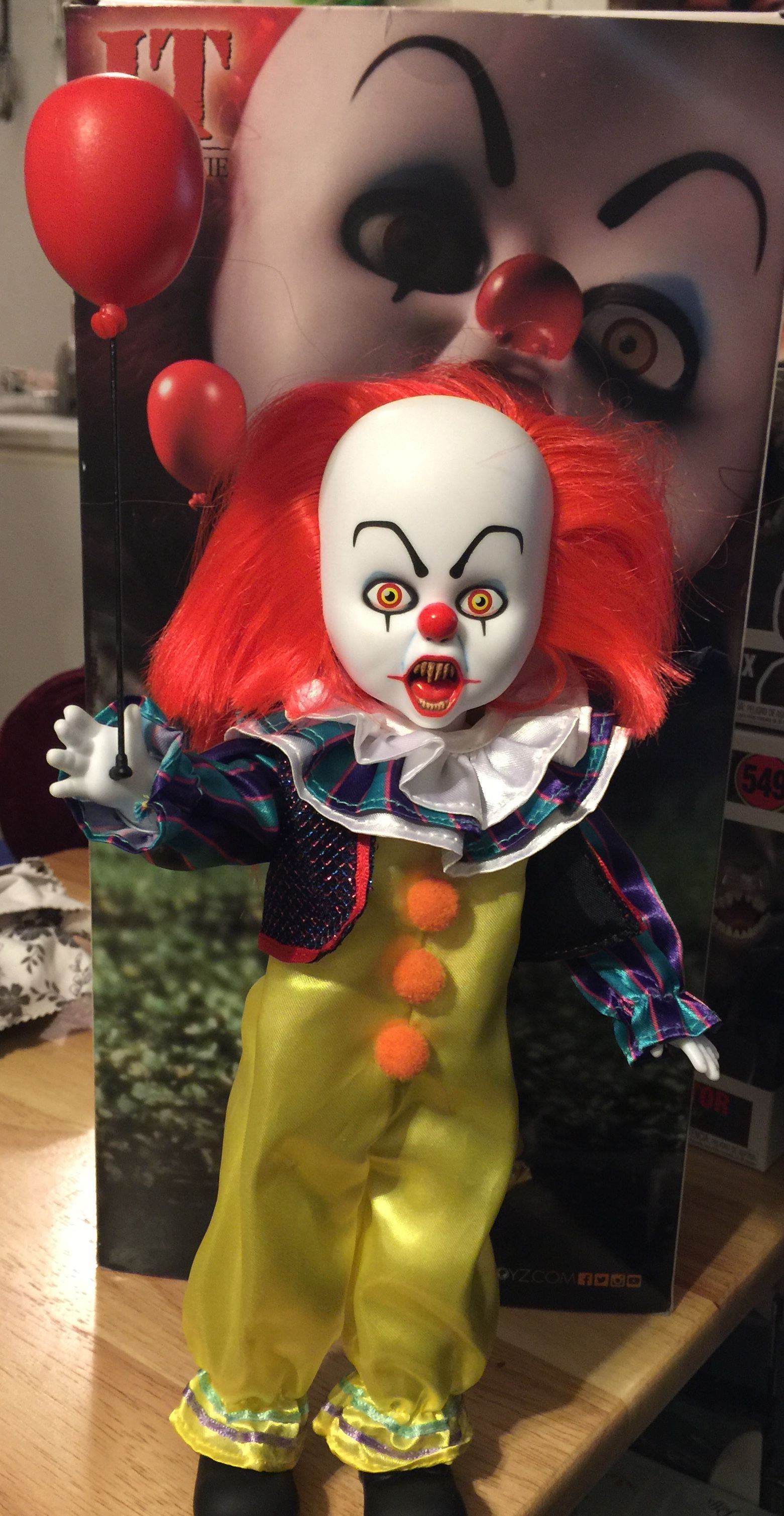 Living Dead Dolls Pennywise the Clown IT figure doll