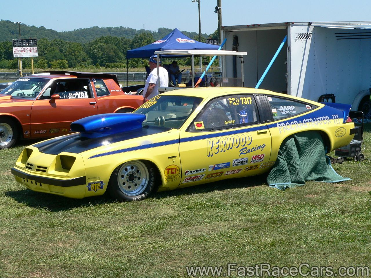Drag Cars Drag Race Cars Monzas Picture Of Yellow And Blue