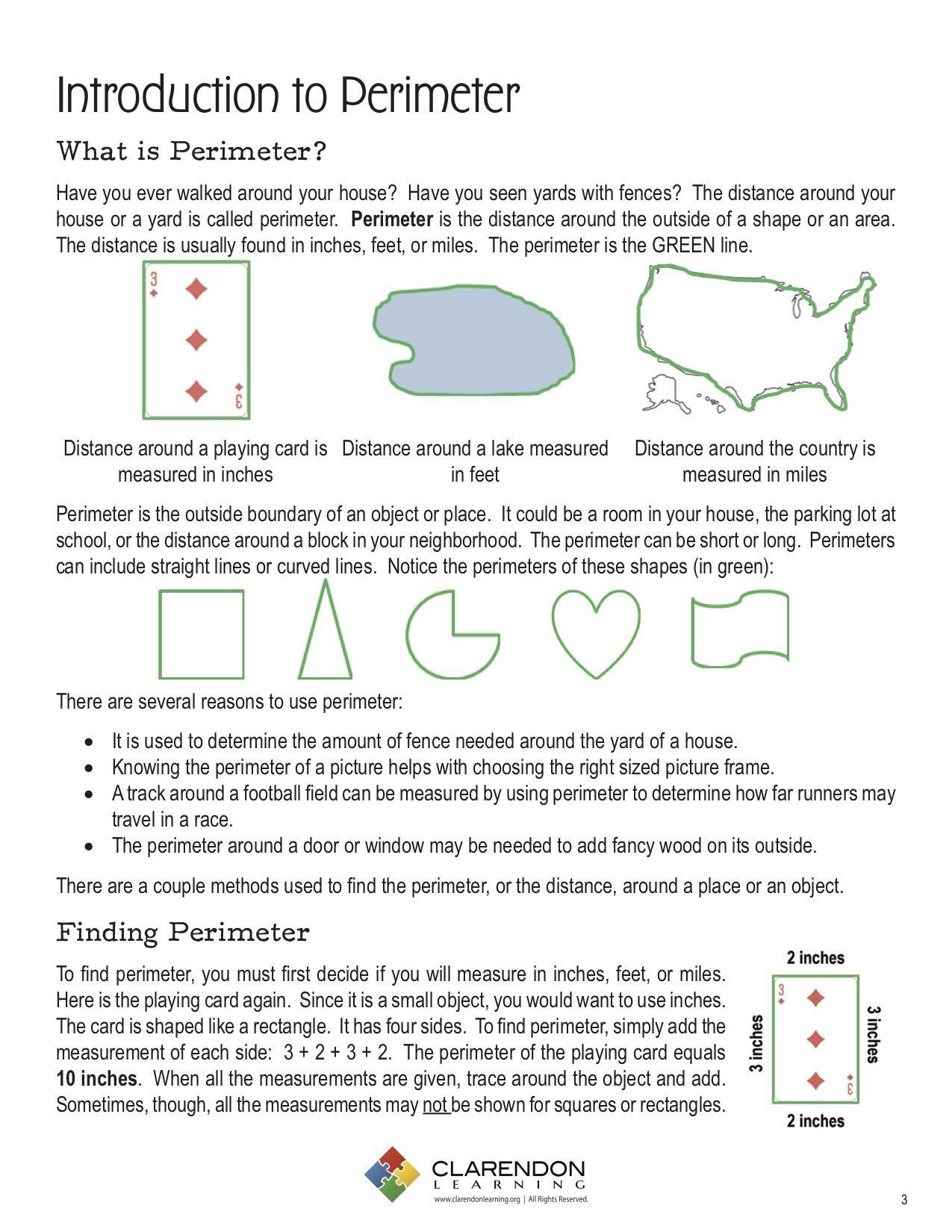 Perimeter Worksheet 4th Grade Introduction To Perimeter Perimeter Worksheets Worksheets Area Worksheets