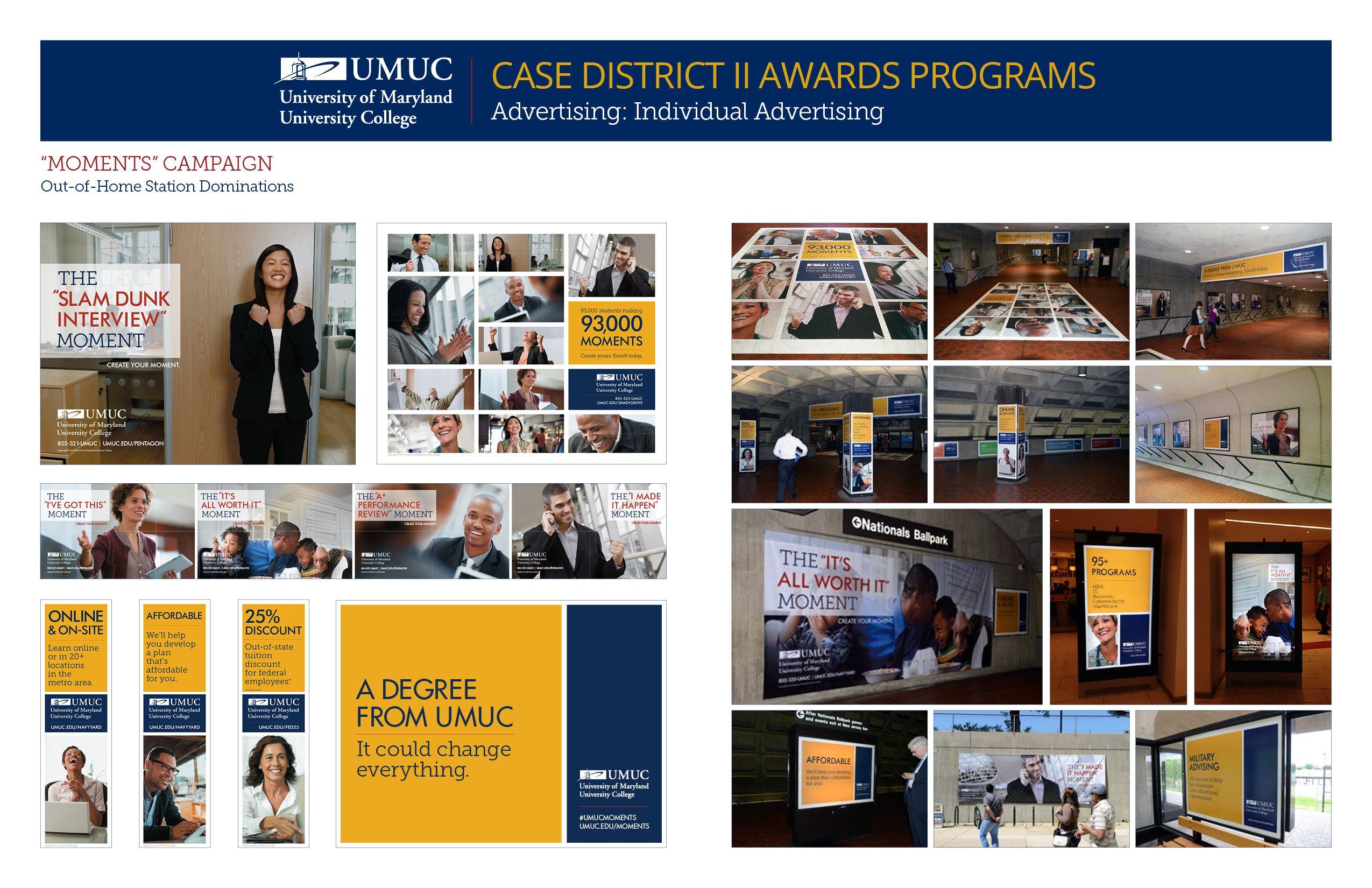 University Of Maryland University College Took Gold In Advertising Individual Advertising With T Online College Degrees University University Awards Program