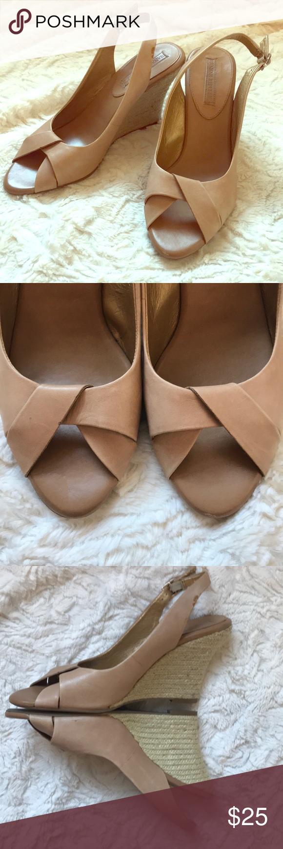 Lyst - ALDO Ldo Elley Nude Wedge Sandals in Natural