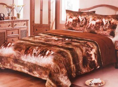 🐎 Showman Couture ™ Queen Size 3 pc Deluxe silk Comforter Set,