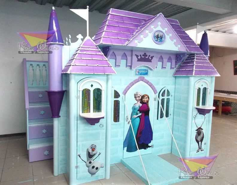 Pin by Maritza Villalva on Proyectos que debo intentar   Pinterest     Frozen Bedroom  Girl Rooms  Kid Bedrooms  Castle Bed  Disney Frozen   Bedroom Ideas  Searching  Princess Room  Playhouses