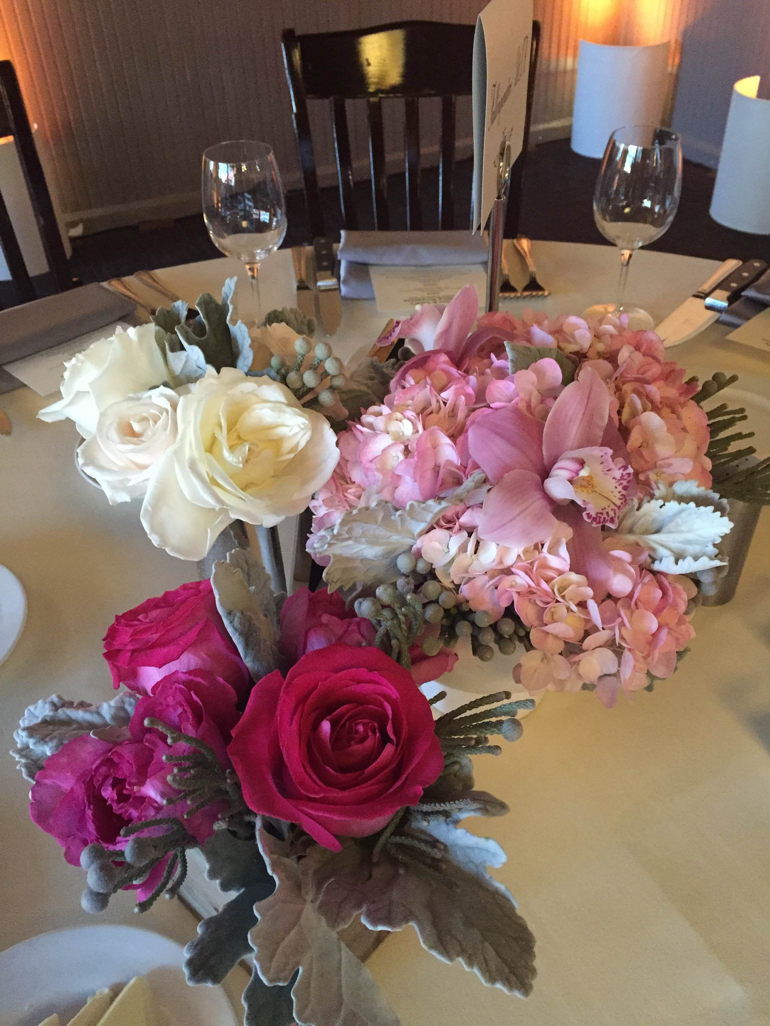 What a beautiful floral arrangement by Ashland Addison! Photo taken by River Roast
