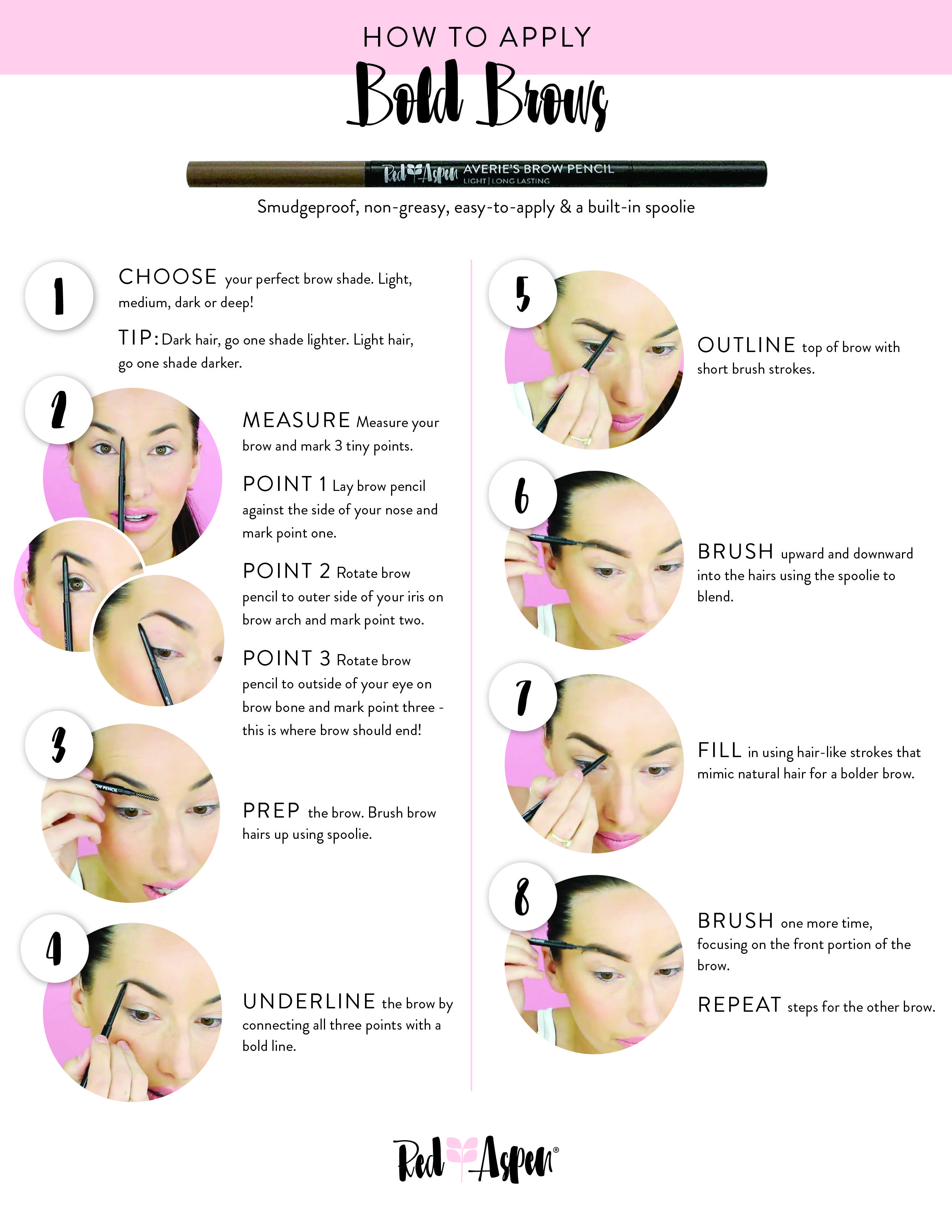 e0cd83c4ff4 The perfect Bold Brow tutorial. This pencil is great for simple hair like  strokes with its dual ended small pencil tip and spoolie. Click to shop!