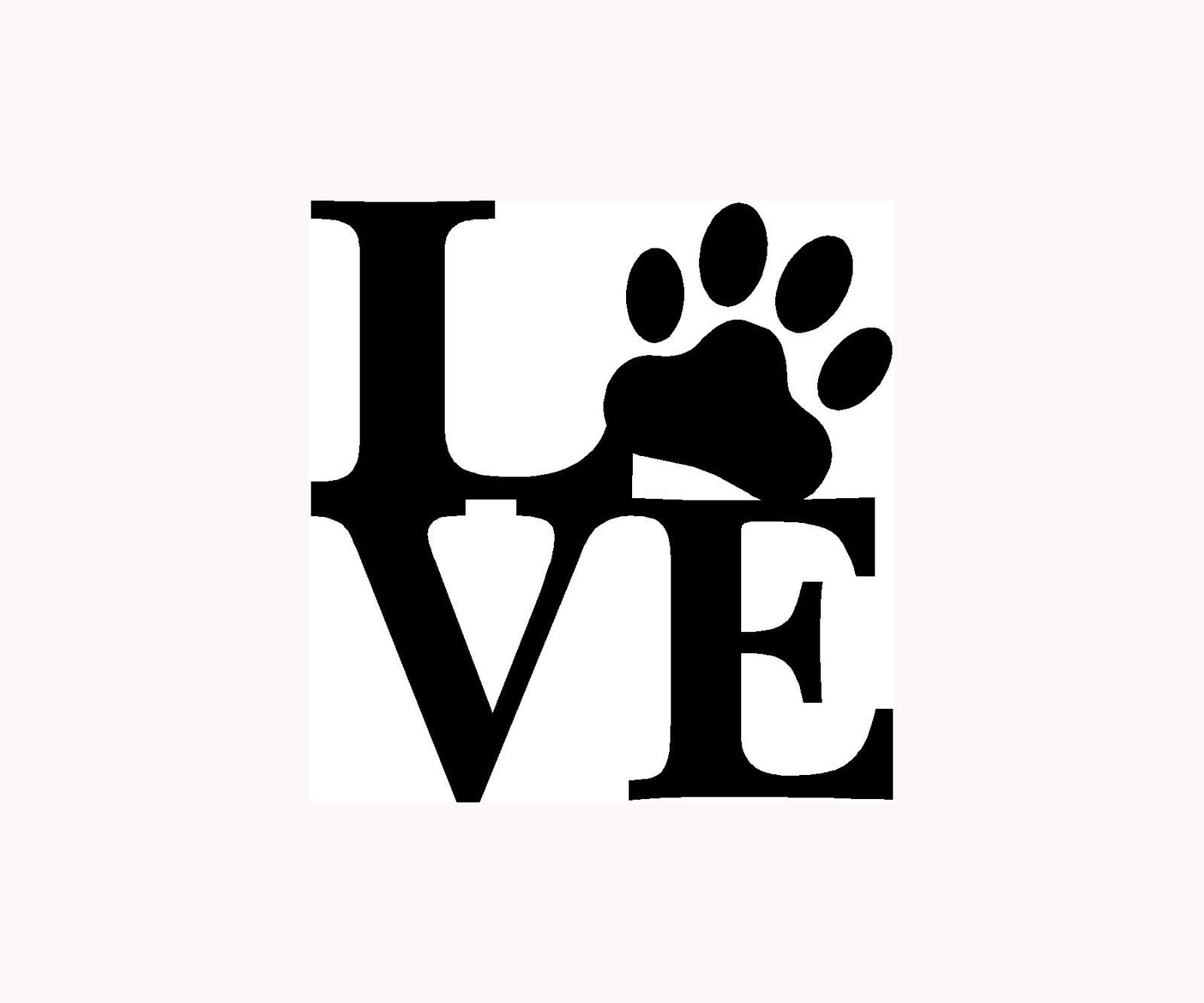 LOVE PAW Sticker Family Car Window Vinyl Decal Cute Animal Pet Dog - Cat custom vinyl decals for car windows