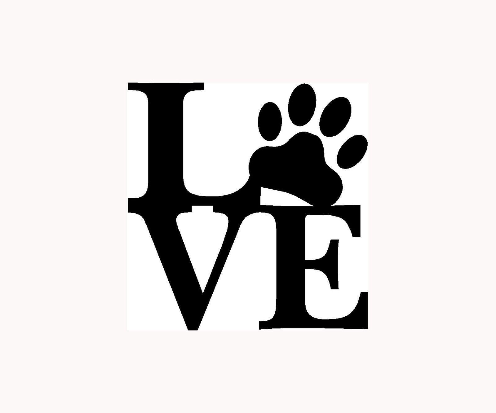 Details about love paw sticker family car window vinyl