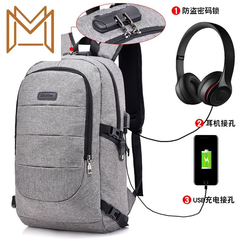 Oxford Both Shoulders Package Men Women Leisure Time Student Bag More Function Travel Backpack Tide