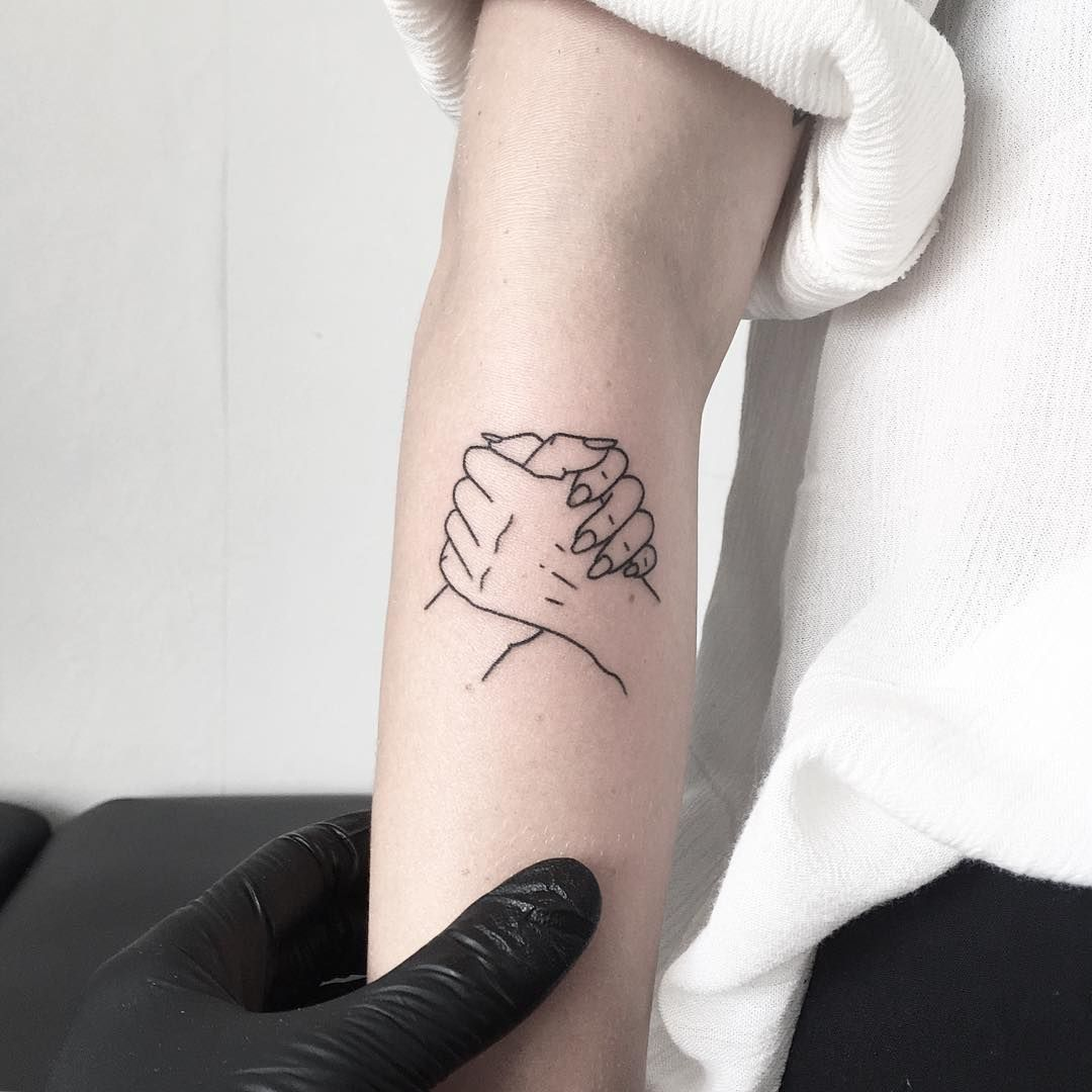Small Wrist Tattoo Edgy: 13 Rad Best Friend Tattoos For Your Edgy Squad