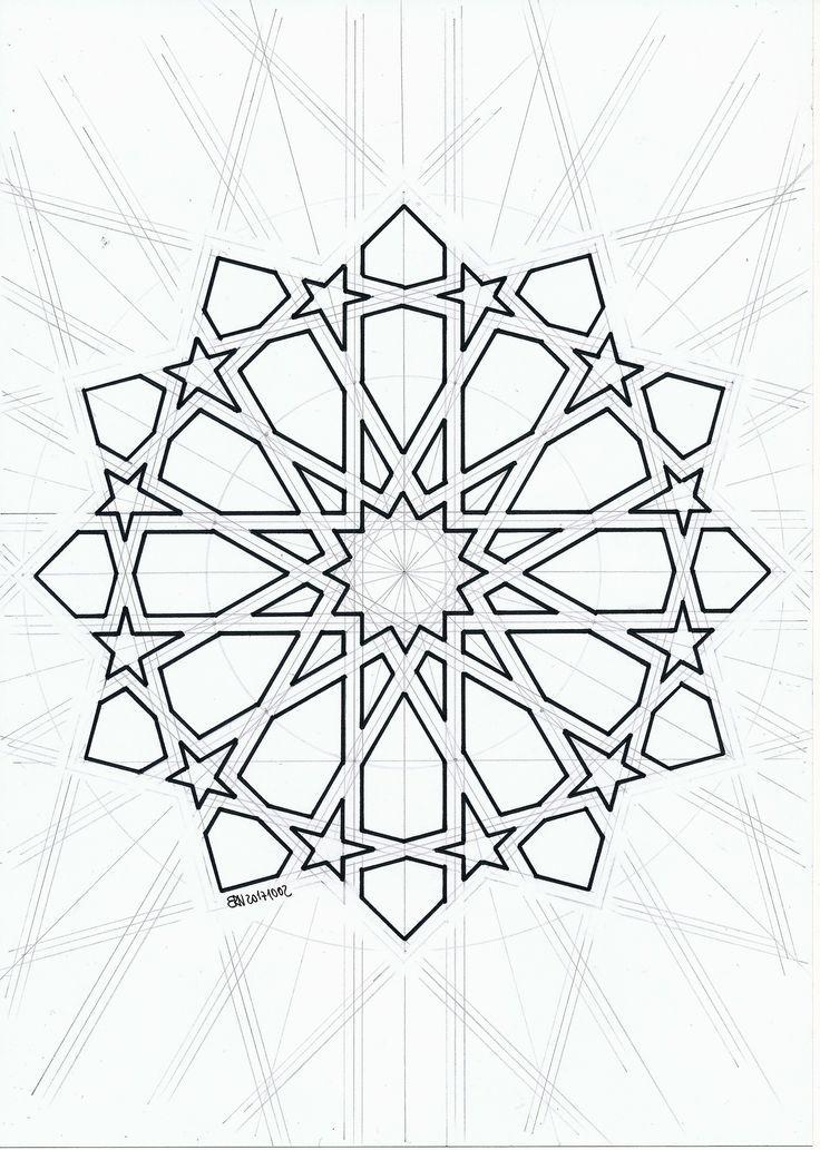 Islamicdesign Islamicpattern Arabianart Geometry Symmetry Seni Geometris Seni Islamis Seni