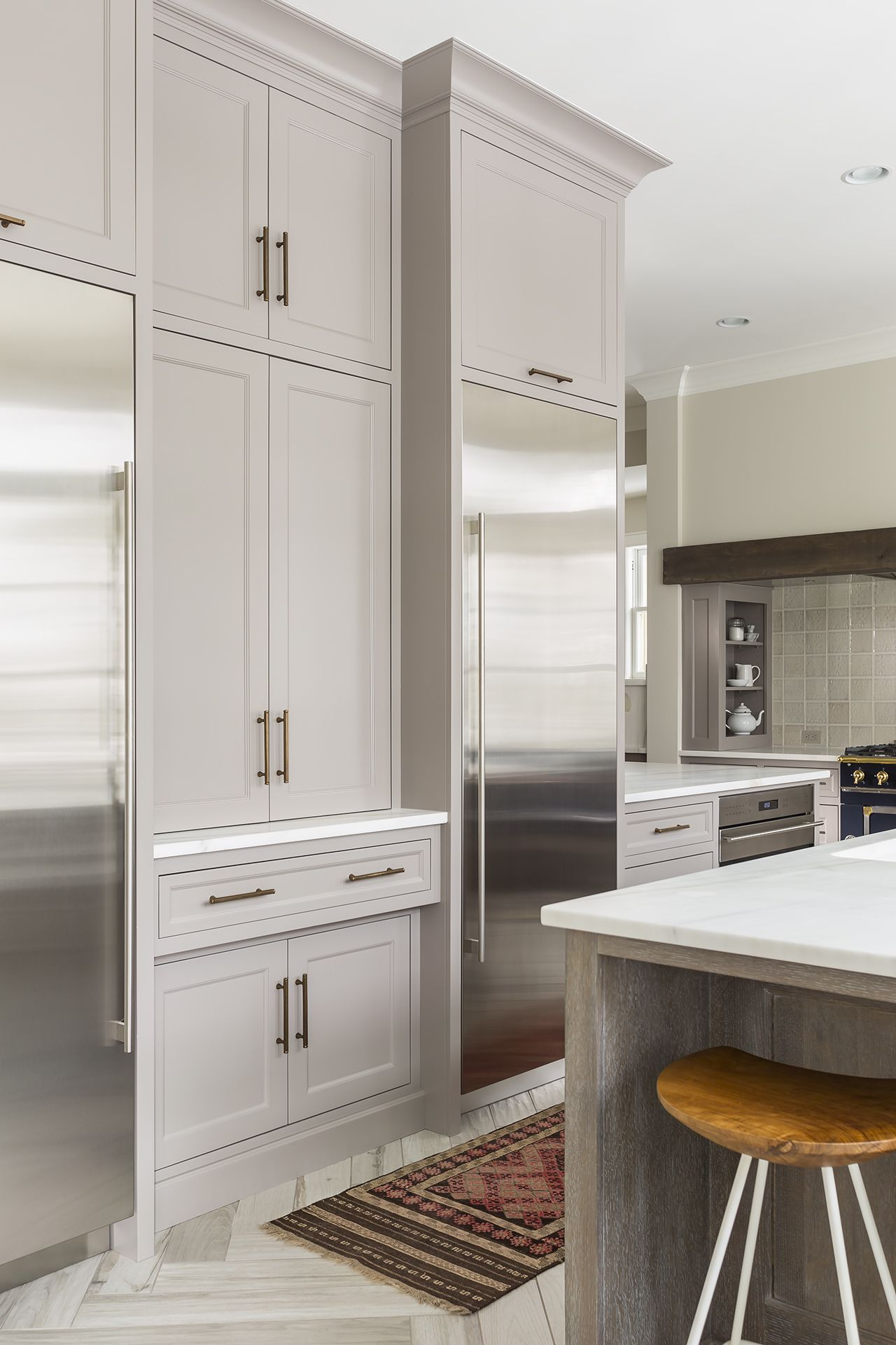 Gorgeous! Softer white kitchen. Wall color: Benjamin Moore-Winds ...
