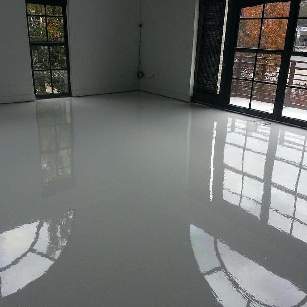 Bright White Epoxy And Urethane Floors Are Being Installed