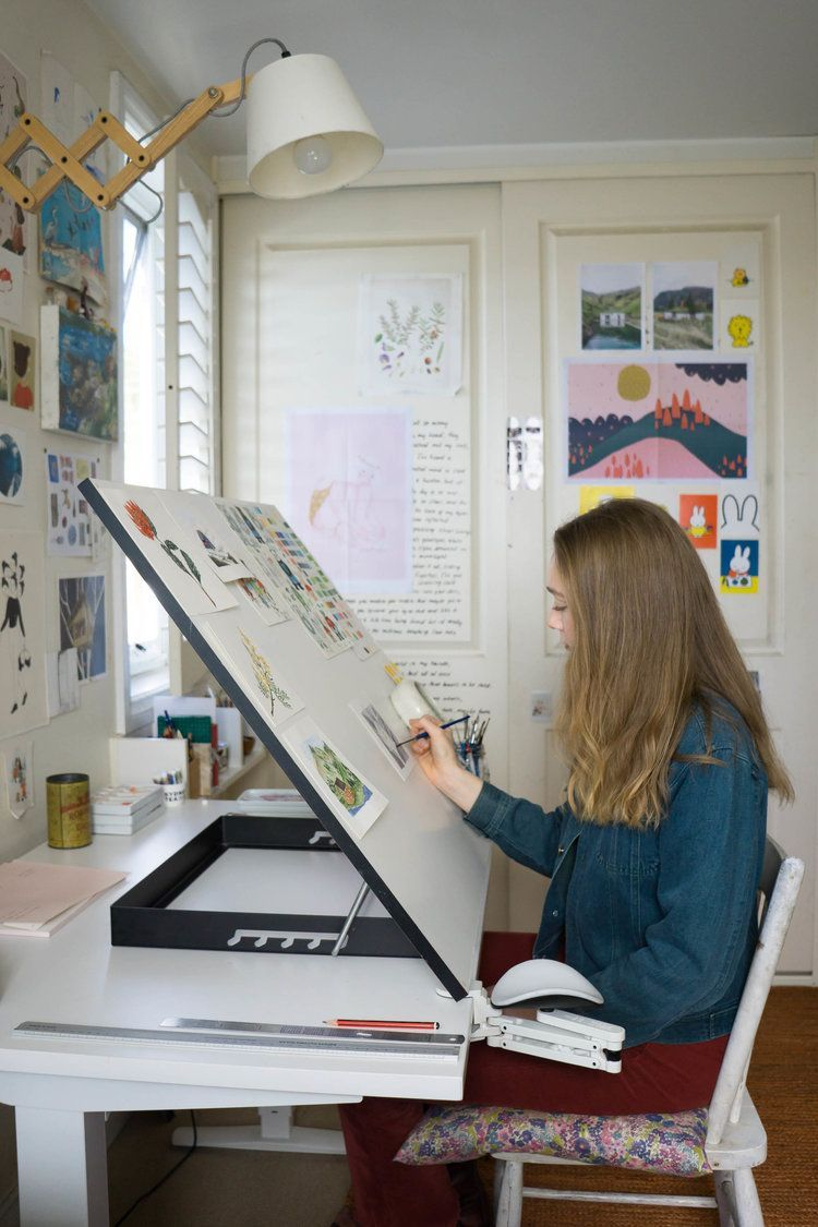 In the Studio with Illustrator Chloe Jasmine Harris | Christie Moore Photography  #Chloe #Christie #Harris #Illustrator #Jasmine #Moore #Photography #Studio