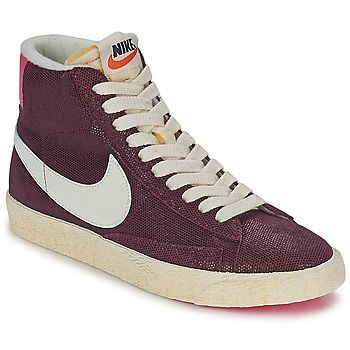 discount new concept 100% high quality Baskets mode Nike BLAZER MID SUEDE VINTAGE Rouge / Rose ...