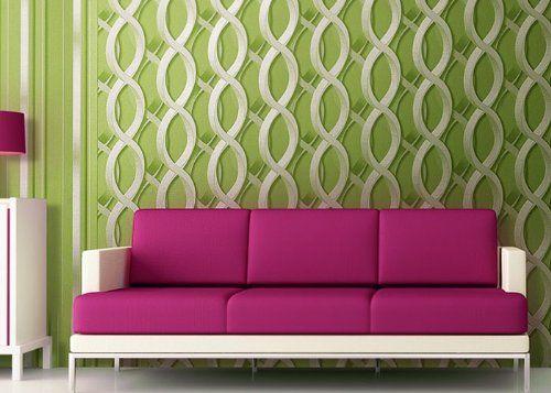 Retro Tapete Vliestapete EDEM 601-95 XXL Designer 70er grafische - wohnzimmer tapete grun