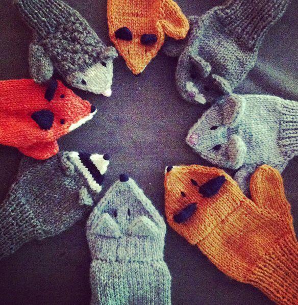 little fox mittens | cimdi | Pinterest | Tejido
