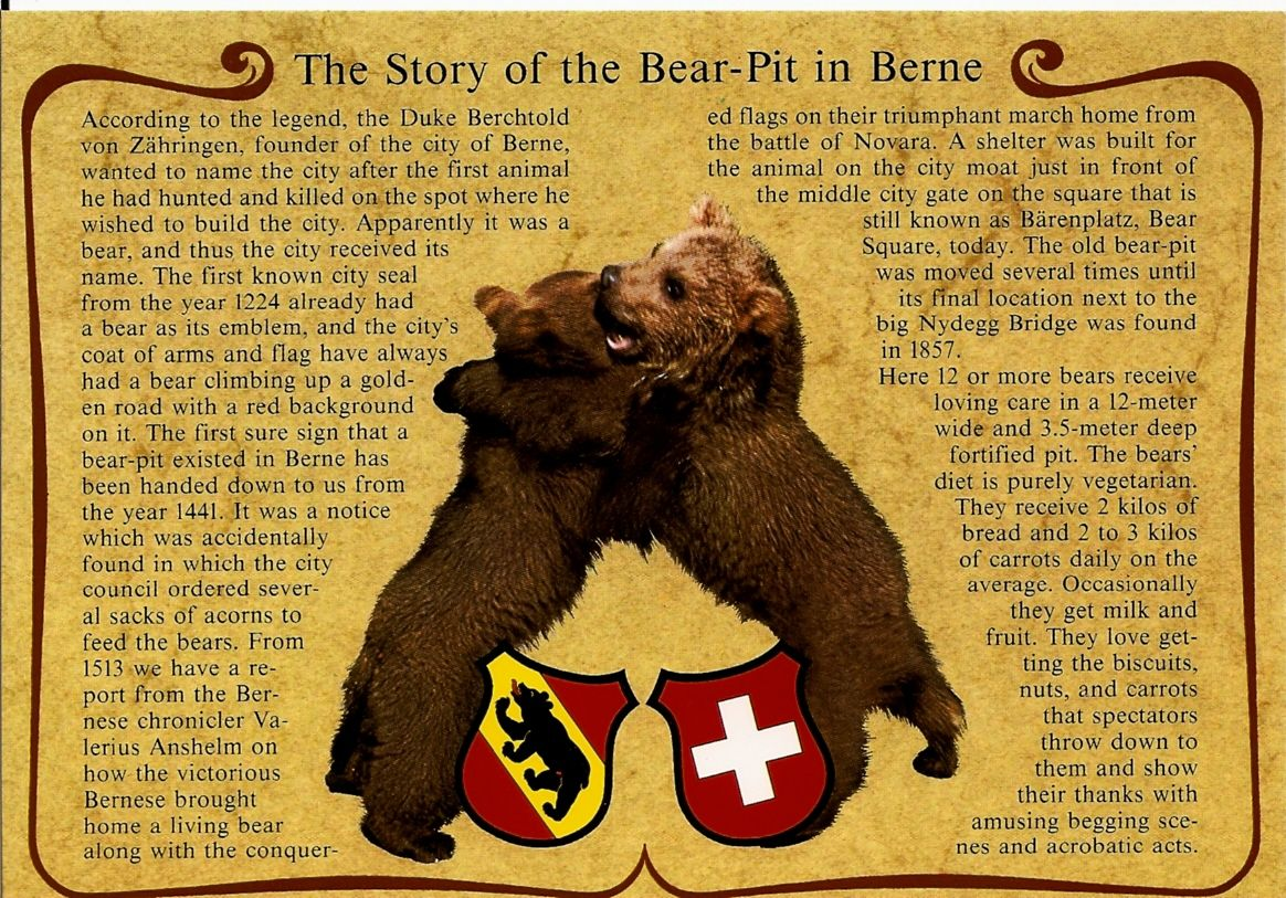 Te story of the Bear-Pit in Berne, Switzerland