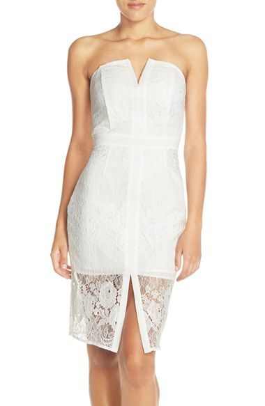 e57aba49 Adelyn Rae Strapless Lace Sheath Dress available at #Nordstrom ...