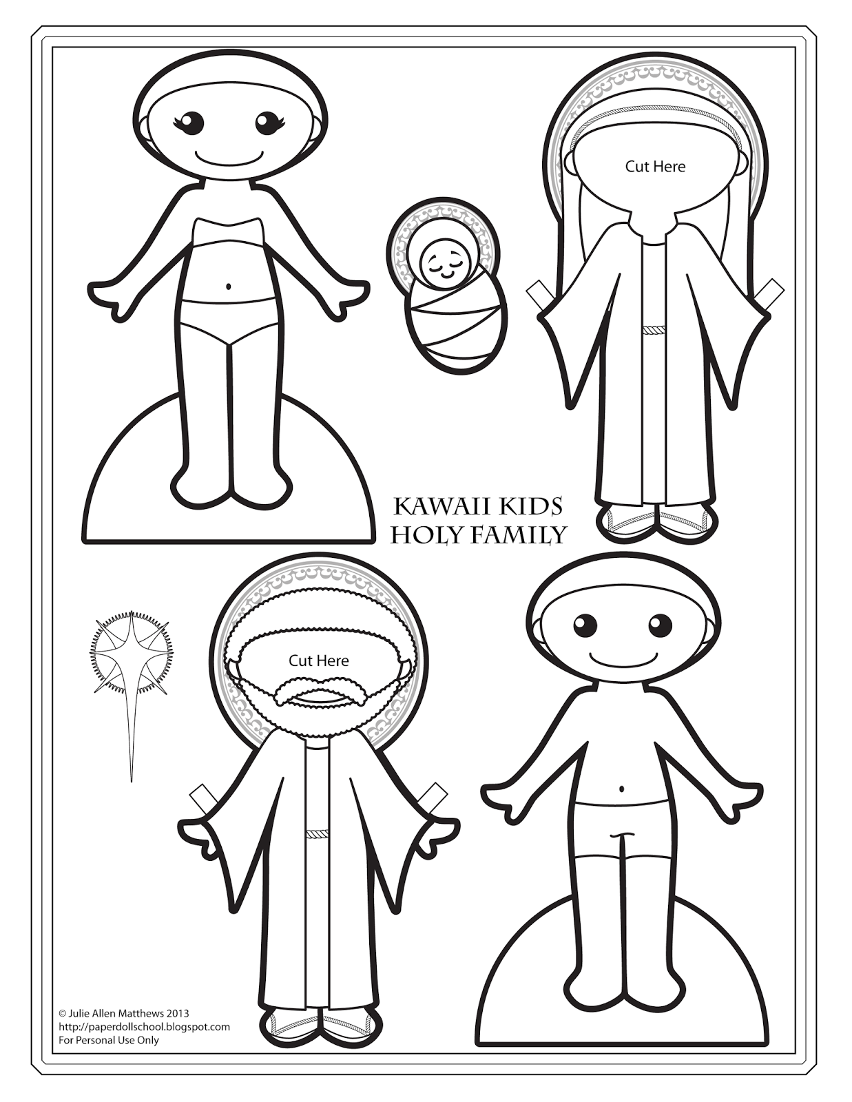 Tutorial blog focused on how to make paper dolls. Tips
