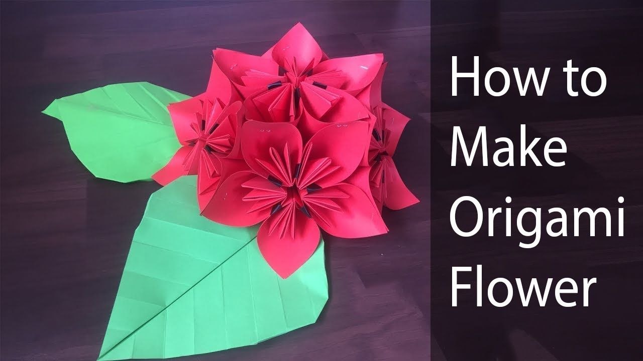How To Make Paper Flower Rhododendron Youtube Origami Lily Easy Origami Flower Paper Origami Flowers