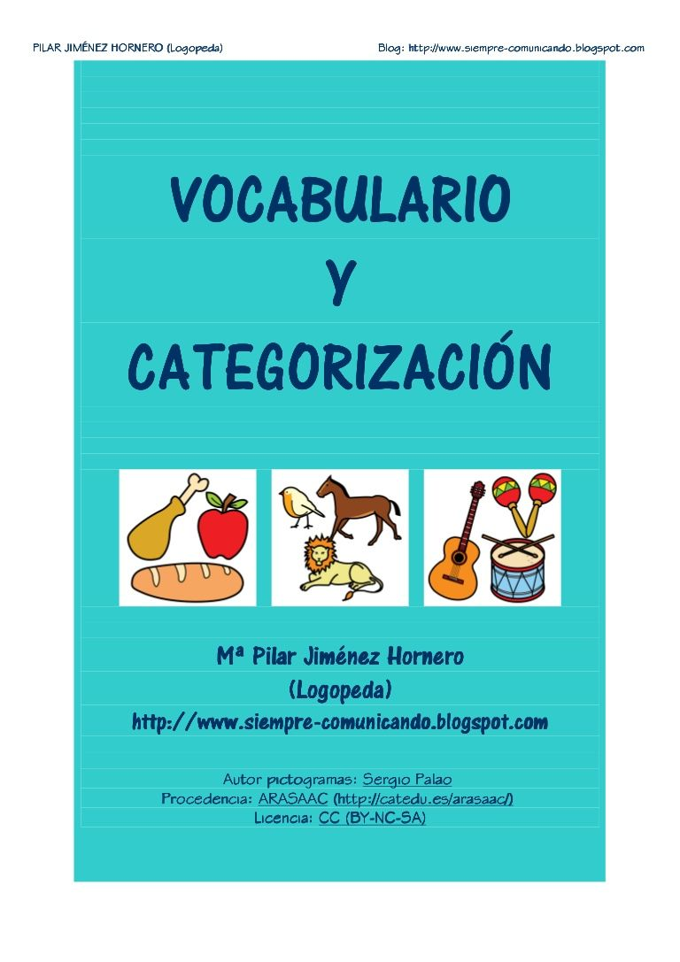 vocabulario-imgenes-b-ncategoras by pilar_jhornero via Slideshare