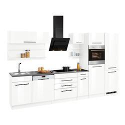Held Möbel Küchenzeile Tulsa, ohne E-Geräte, Breite 330 cm weiß Küchenzeilen Geräte -blöcke Küchenmö
