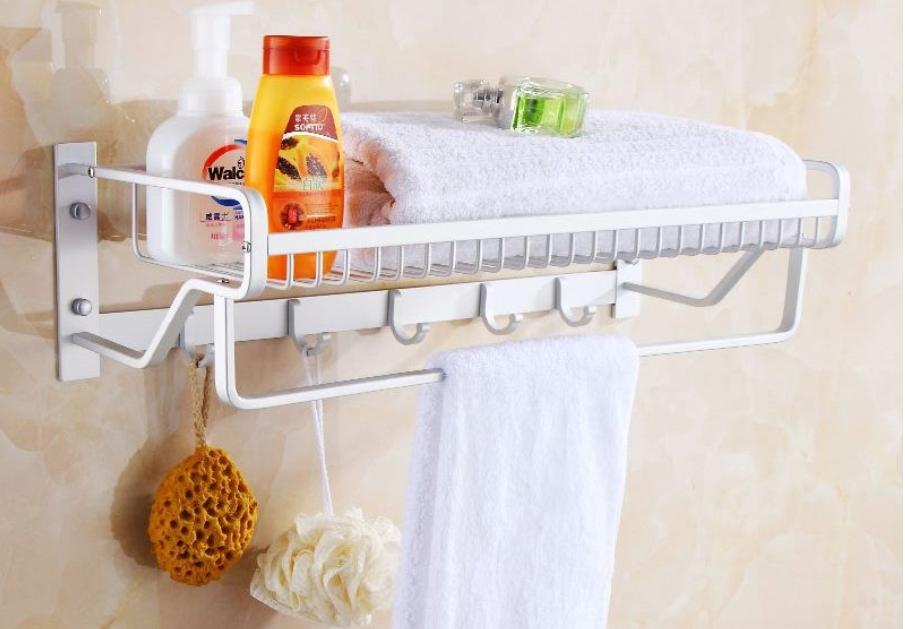 Rangement Cuisine* Bathroom Shower Wall Rack Towel Rack Kitchen Storage Shelf * 2020