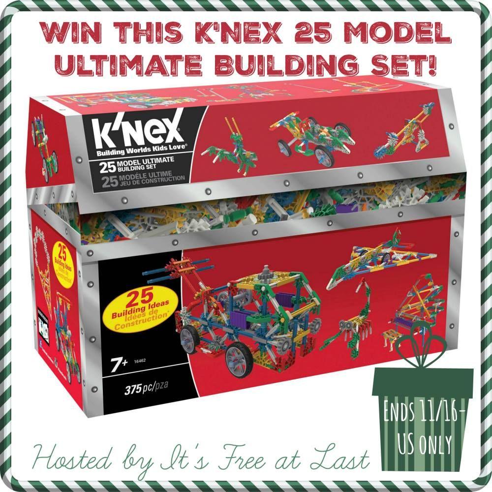 K'NEX 25 Model Ultimate Building Set Giveaway! US, 11/16