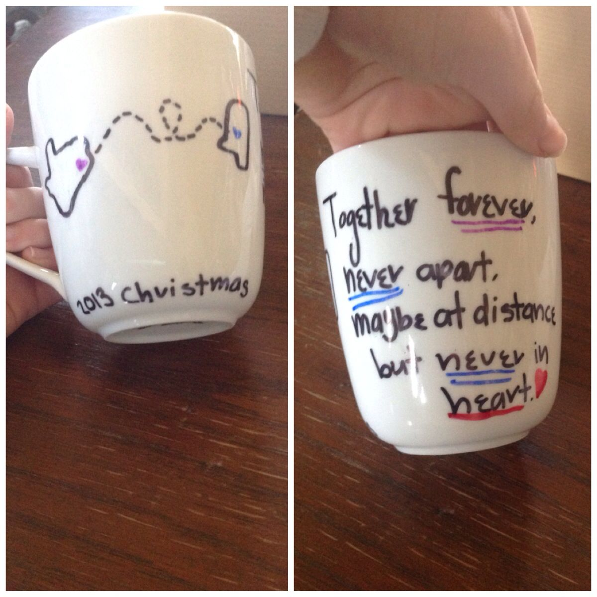 Diy best friend mug made it for my cousin for christmas for Christmas presents for best friends homemade