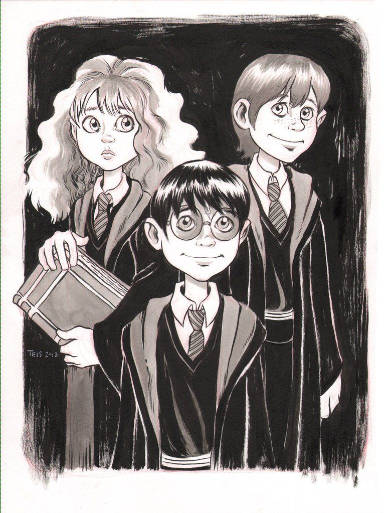 Hermione Harry Ron Harry Potter Tess Fowler The Wizarding