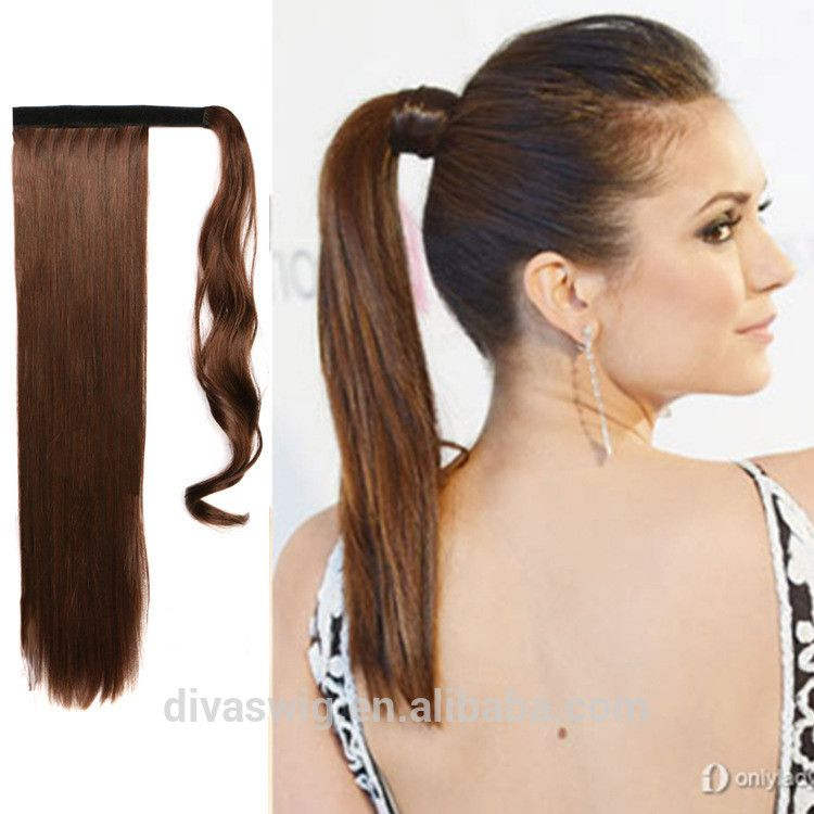 Wholesale 100 Indian Remy Wrap Around Ponytail Extension Drawstring