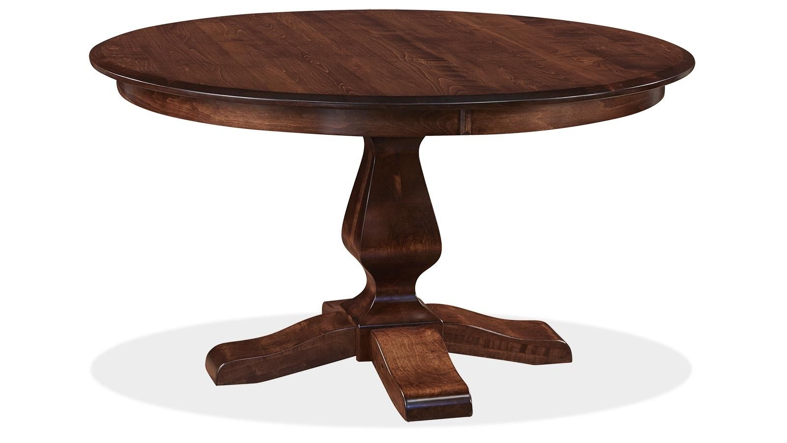 Ashley Asbury Brown Maple Dining Table Front 60 Round Dining Table Round Dining Room Table Round Dining Room