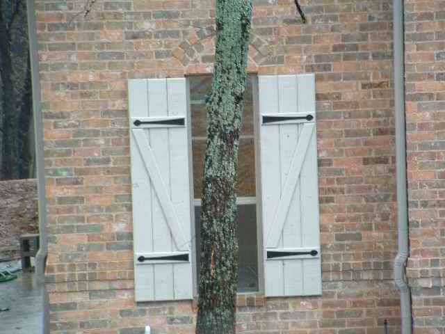 faux shutter hinges | ... buck shutter, shown here painted white ...